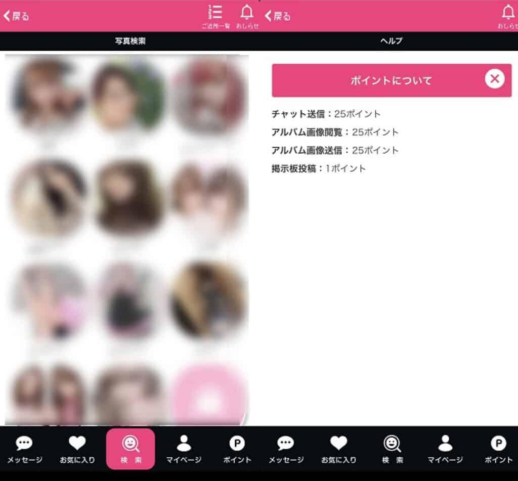 大人チャットアプリから誘導された画面